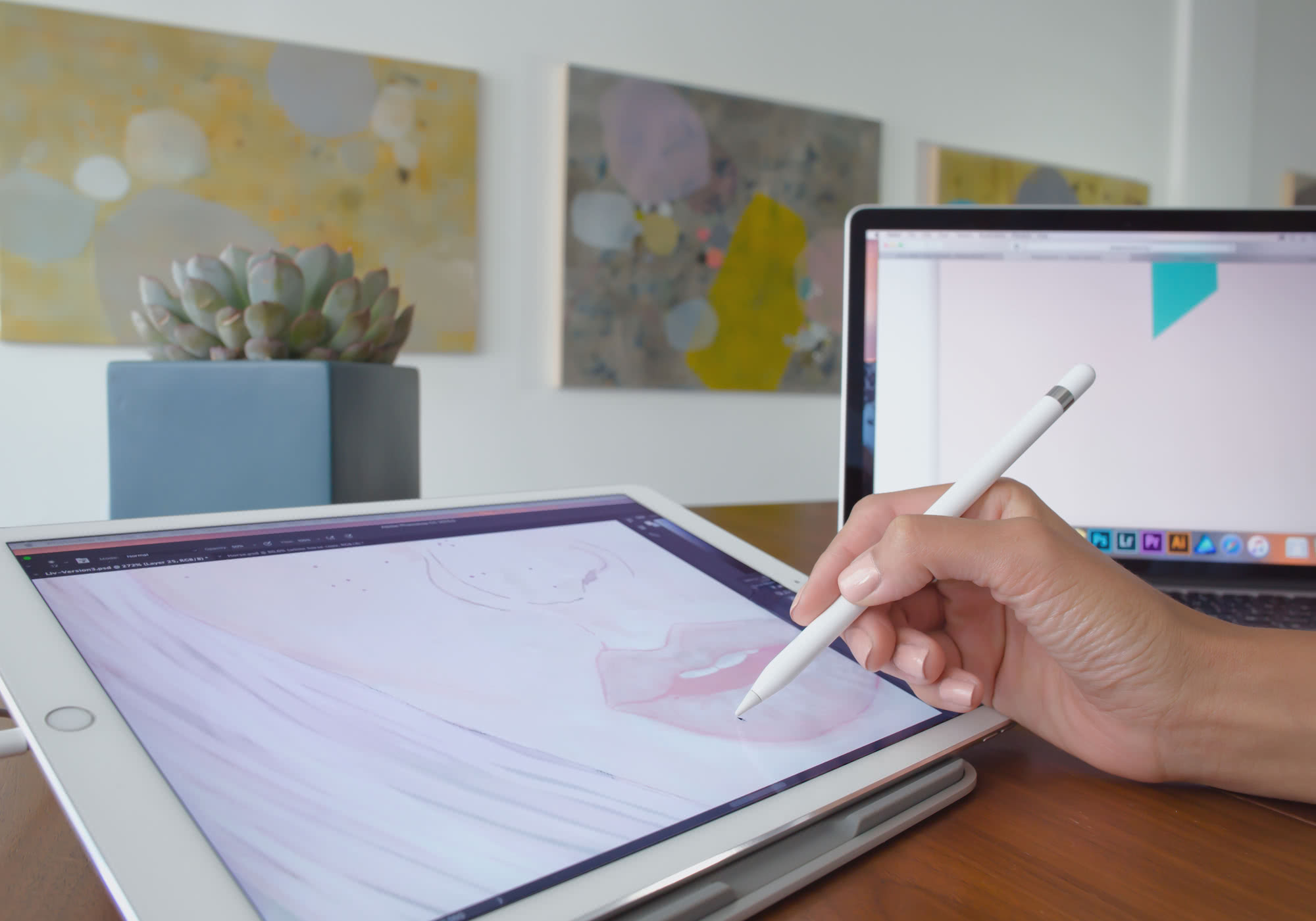 Duet Pro As A Drawing Tablet for iPad Pro and Apple Pencil